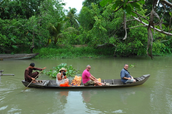 Sampan ride to small canal