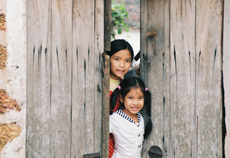 Children at Duong Lam Village