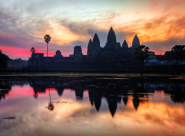 Angkor Wat Temple at Sunrise
