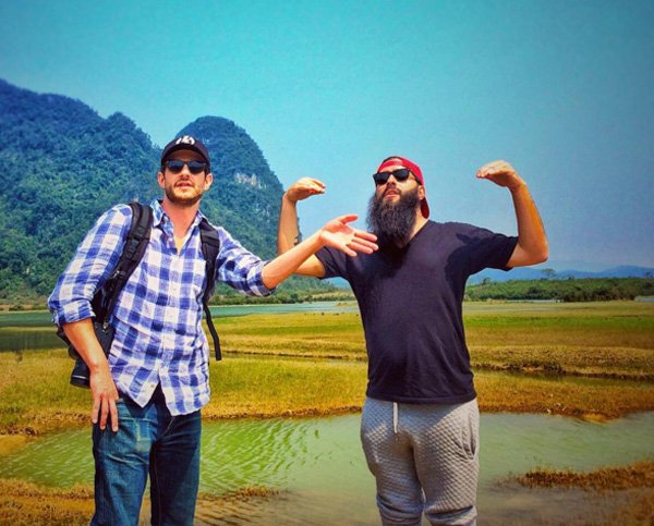 The movie director Jordan Vogt Roberts at Quang Binh