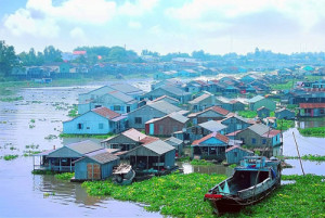 chau doc floating villages