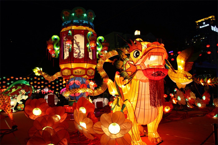 Mid-autumn festival in Tuyen Quang City, Vietnam