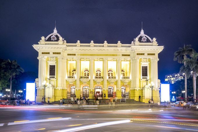 Hanoi Opera House located at the August Revolution Square