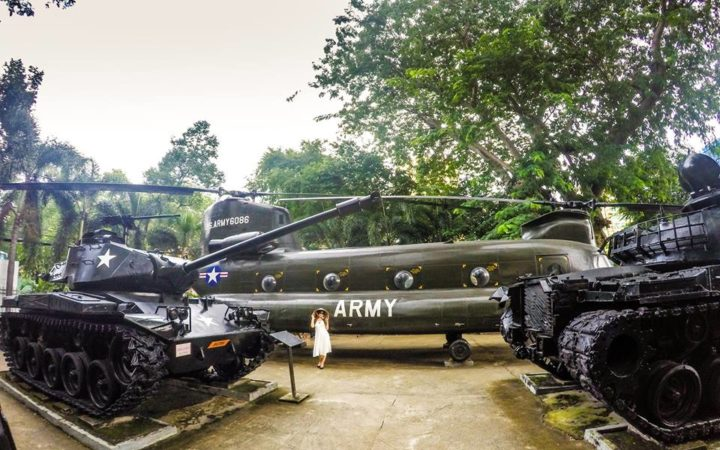 At The War Remnants Museum in HCM City