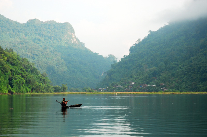 Ba Be Lake in the North East of Vietnam