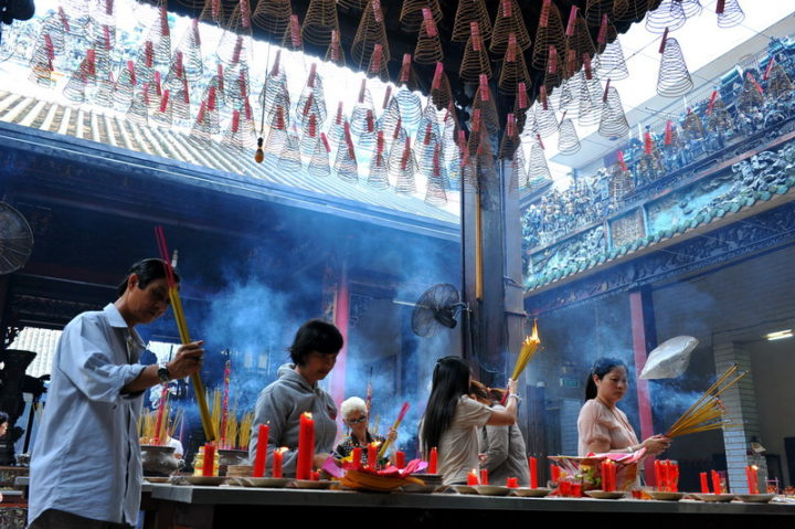 In a Temple at China Town in HCM City