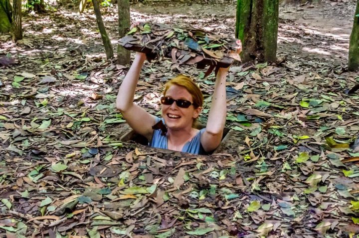 Visit Cu Chi Tunnels while staying in Saigon, Vietnam
