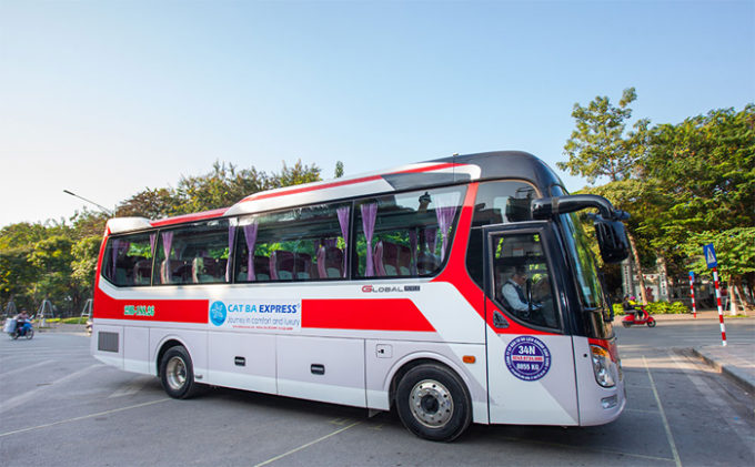 Transfer to Cat Ba from Hanoi by bus