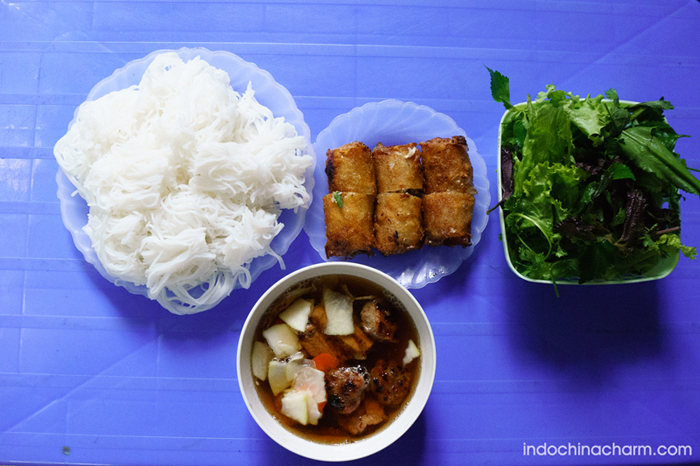 Bun Cha (grilled pork with rice vermicelli)
