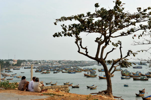View over fishing village at Mui Ne, Phan Thiet