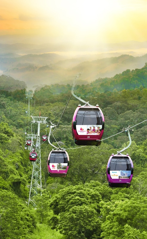 Cable car to Ta Kou Tourist Site