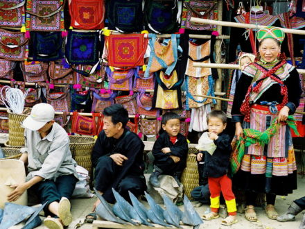 Visit to a hill-tribe market on Sapa tour from Hanoi