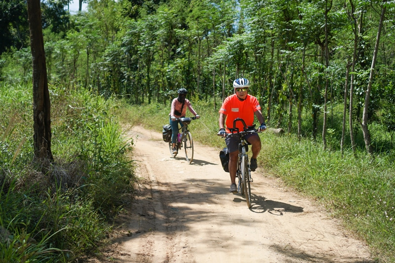 Biking tour in Cat Tien Natonal Park with Indochina Charm Travel
