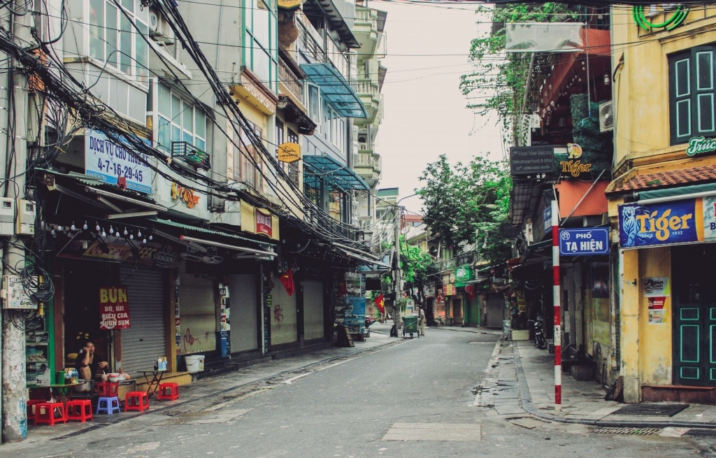 Hanoi Old Quarter is very quiet during Covid-19 time